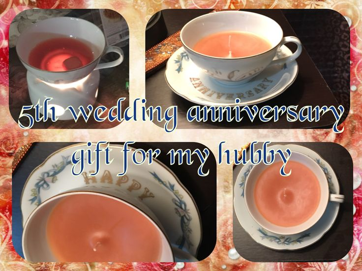 Thrift store find teacup & saucer melted some wax & added a wick to make a cute gift for Sabeel <3