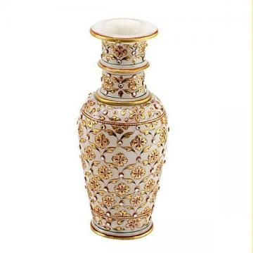 very attractive design flower vase. This lovely marble flower vase with meenakari work superbly indeed  makes for a beautiful 39 best Vases And Flowers images on Pinterest Jars Vase and