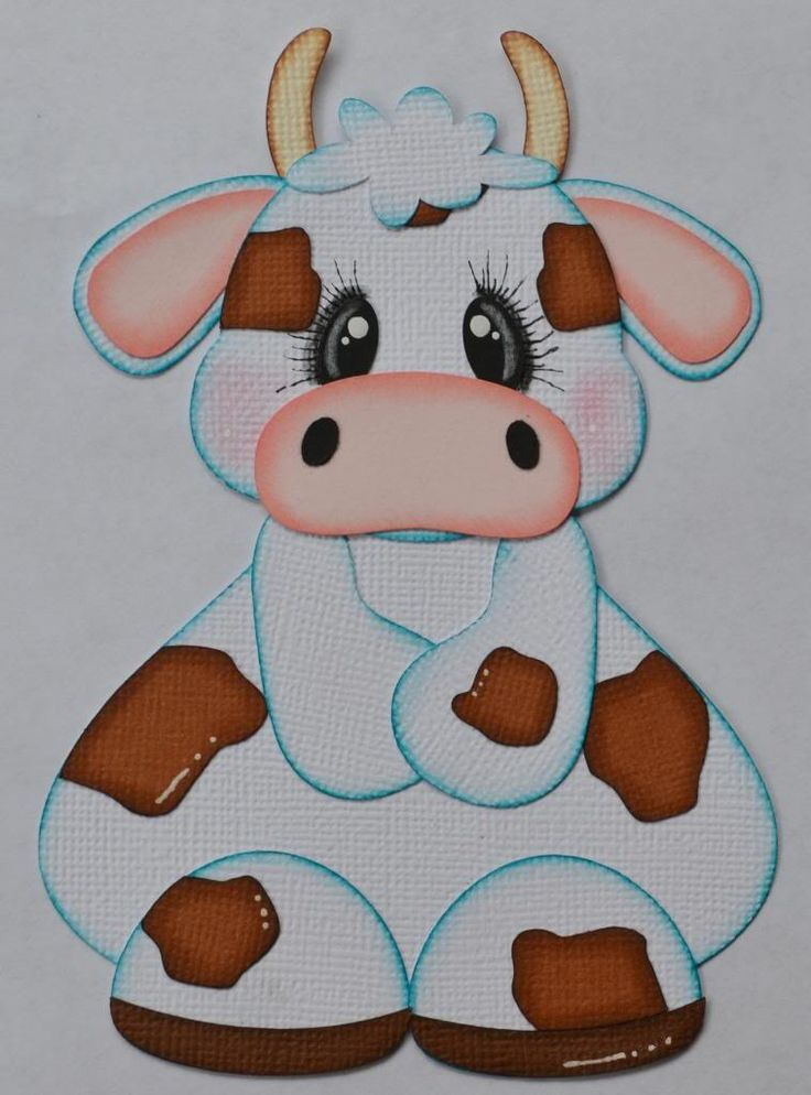 Animal Paper Piecing Patterns   Paper Piecing Cow for Scrapbook Pages Farm Animals Layouts   eBay