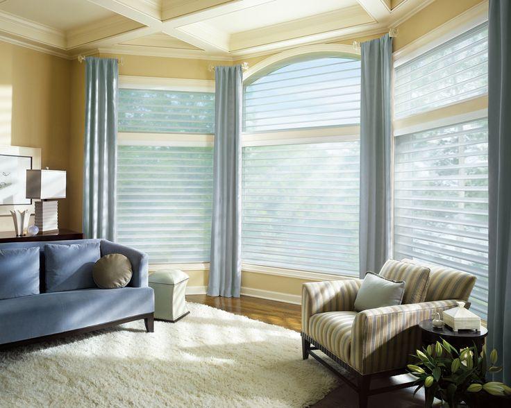 Hunter Douglas SilhouetteR QuartetteR Window Shadings With EasyRiseTM Cord Loop