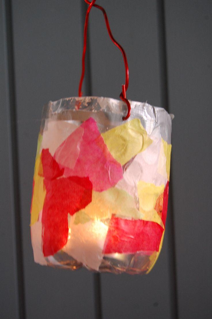 Recycelte PET Flasche als Lampe für den Martinsumzug - Toddler