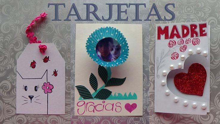 https://www.youtube.com/watch?v=GMUwtWQ7iOw Idea de tres tarjetas para regalar a mamá el día de la madre, fácil para todas las edades.