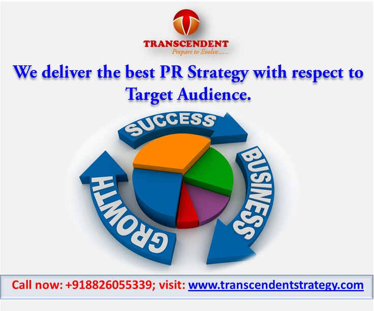 #PR #PRstrategy #mediarelations #businessgrowth #brandmanagement #bestPRagency #targetaudience #topPRagency PR talks the message of a brand with its target audience. We have very good media relations which let us capture the mind of market. For more details, Call: 8826055339 or visit to our website: www.transcendentstrategy.com