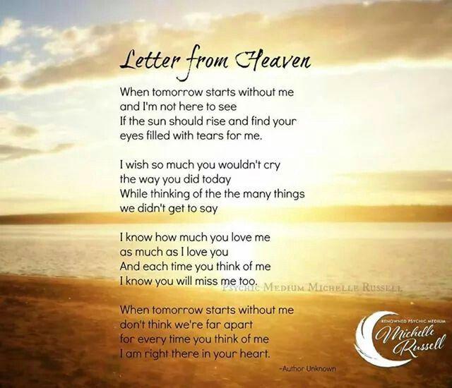 Best  Letter From Heaven Ideas On   Mom In Heaven