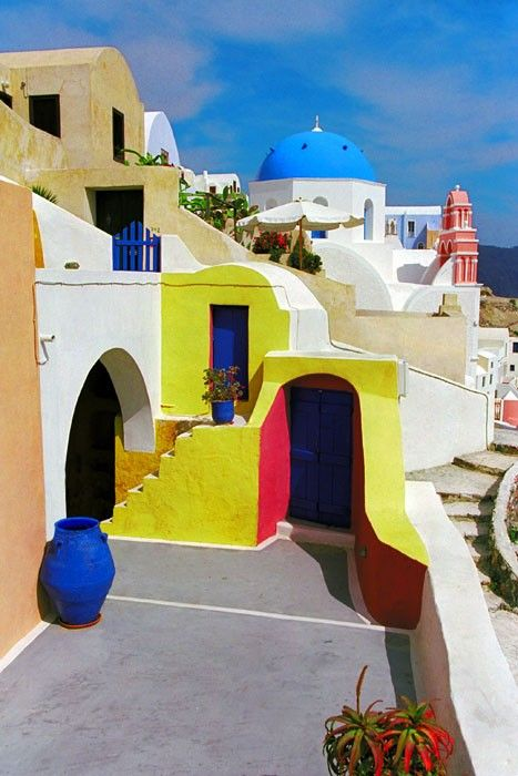 Colorful architecture in Greece | Europe | Greece | architecture | design | buildings | luxury travel | travel | vacation