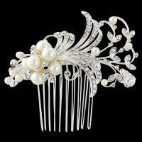 VERA PEARL HAIR COMB - SASSB - GATSBY STYLE - ivory pearls on a silver plated finish - TIARAS AND HAIR COMBS