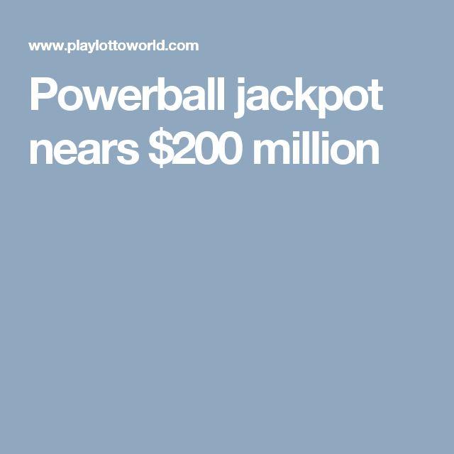 Powerball jackpot nears $200 million