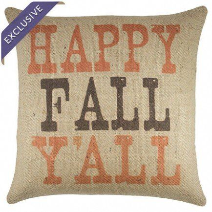 Happy Fall Pillow really need some burlap & 29 best DIY Rustic throw pillow ideas images on Pinterest   Burlap ... pillowsntoast.com