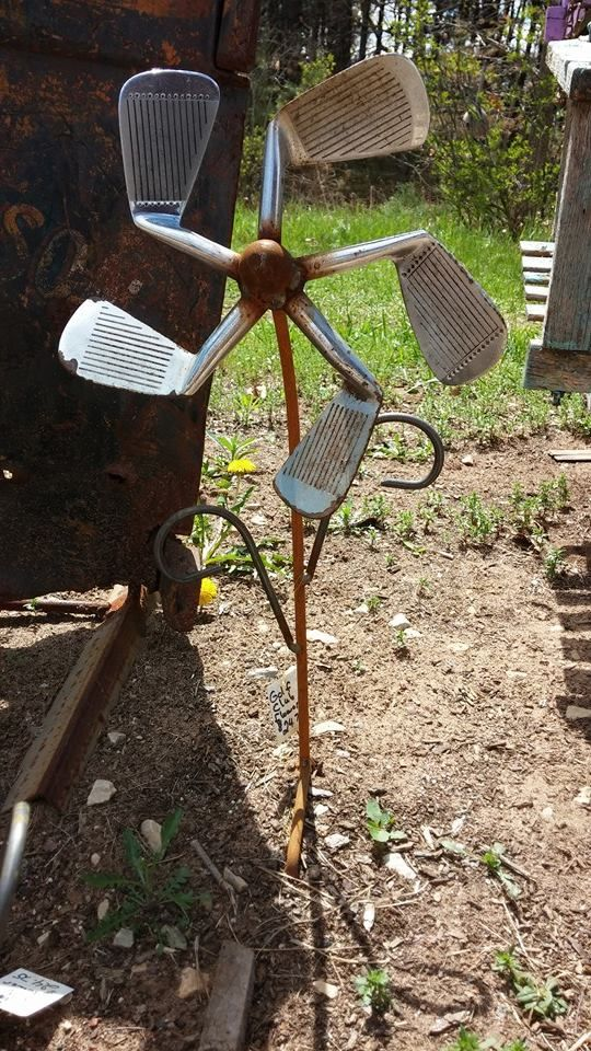 10309482_843546245659838_6574818208116615388_n.jpg (540×960)We thrive on Recycle, Reuse, Rethink & Repurpose. Metal Golf Club Flower. at Gold'n Country Gifts llc, Weyauwega, WI Facebook https://www.facebook.com/weluv2cre8 and www.goldncountrygifts.com