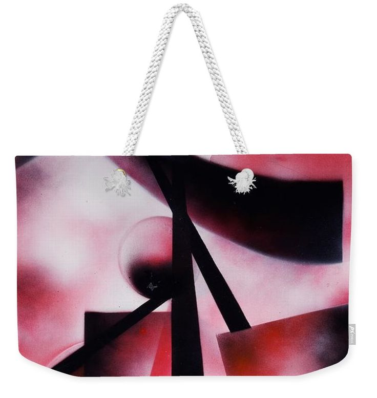 X-world Weekender Tote Bag Printed with Fine Art spray painting image X-world Nandor Molnar (When you visit the Shop, change the size, background color and image size as you wish)