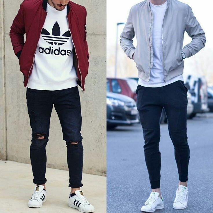 bomber jacket, t-shirt, white sneakers