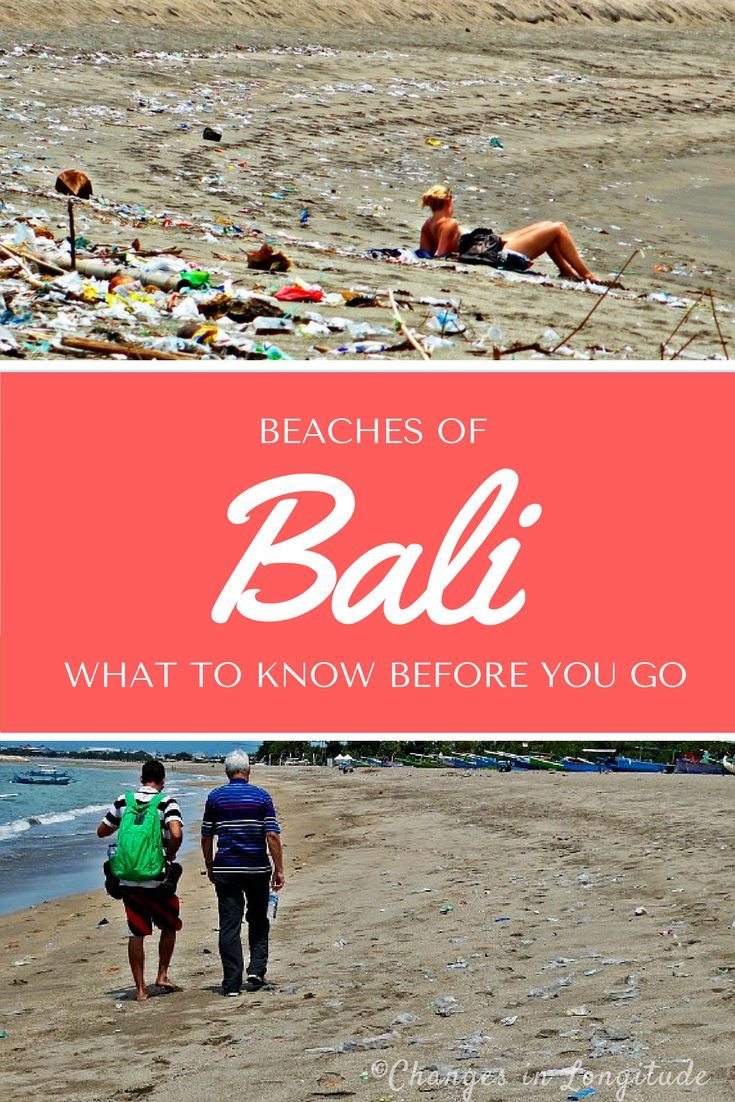 A trashy beach in Bali