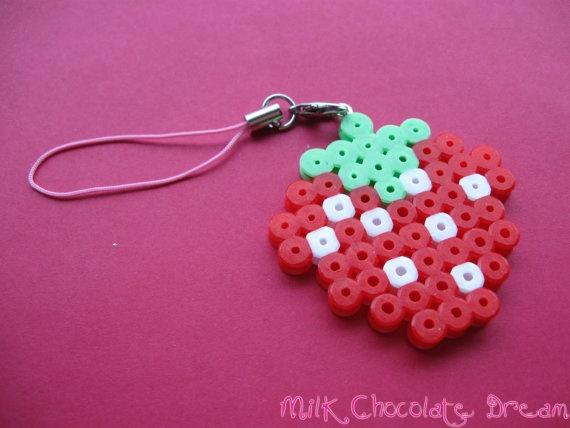Strawberry Phone Charm by Sarah Frain