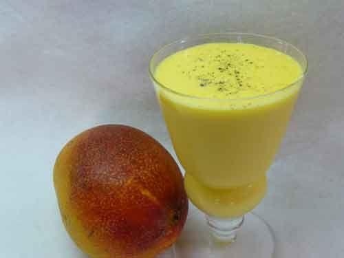 Mango Lassi – Mango Flavored Yogurt Drink Recipe. So good!