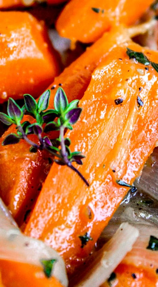 Sautéed Carrots and Shallots with Thyme.