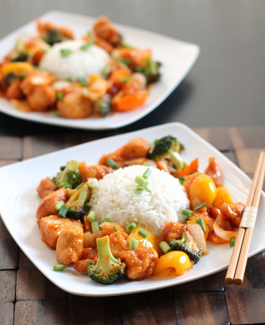 Sweet & Sour Chicken by crispybitsnburntends: So much better thank takeout! #Chicken #Sweet_and_Sour