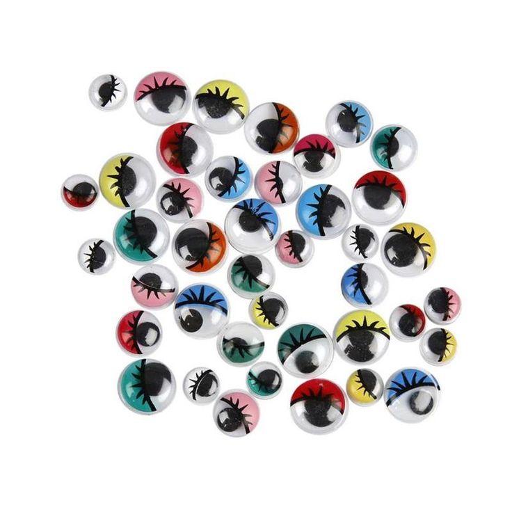 Erilaiset askarteluun käytettävät silmät, niin muoviset kuin kankaiset. Mielellään nimenomaan tällaiset yksittäiset silmät, eikä toisiinsa valmiiksi kiinni olevat.