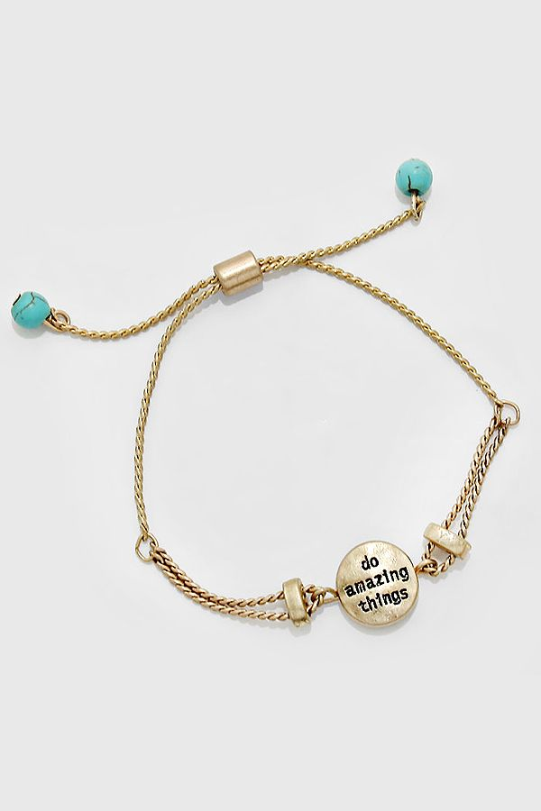 Do Amazing Things Bracelet | Women's Clothes, Casual Dresses, Fashion Earrings & Accessories | Emma Stine Limited