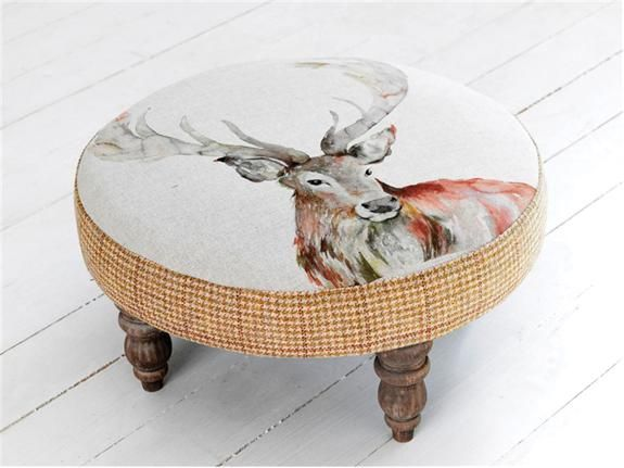 stag foot rest, stool..