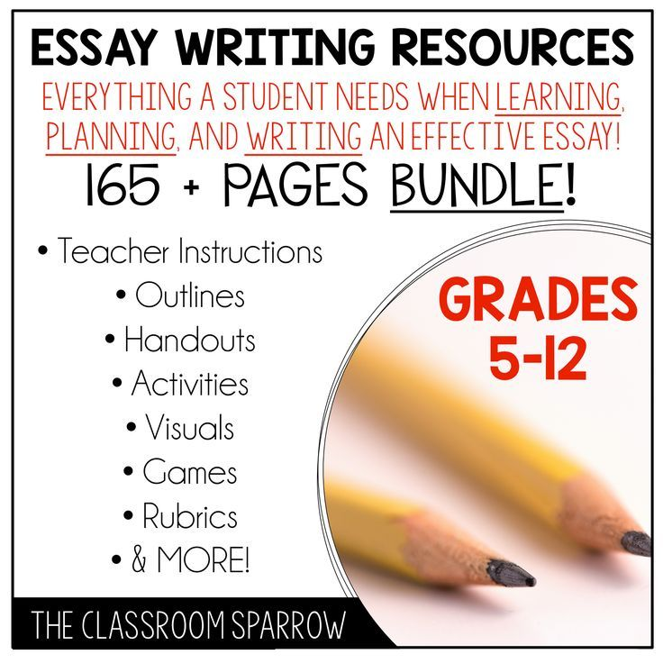 This bundle includes everything you need to teach your students how to write an effective essay. The various activities can be used for beginner, intermediate, and advanced essay writers. A suggested order of use page has been included to help you organize how you may like to present the information to your students.