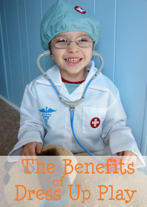 The Benefits of Dress Up Play- Play is work! Here are a few reasons why dress up play is such an important (and fun) learning experience.