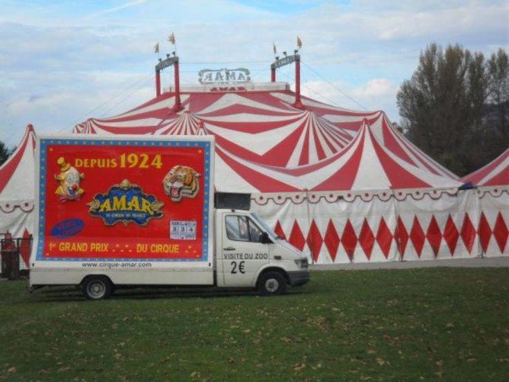 Le cirque Amar,c'est un convoi de 4km50,une flotte de 120 ...