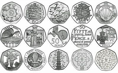 Rare 50p #coins #commemorative #various,  View more on the LINK: http://www.zeppy.io/product/gb/2/262213688516/