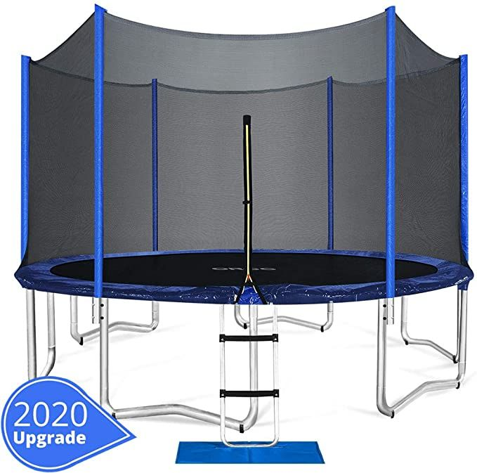 Amazon Com Orcc Trampoline 15 14 12 Ft Outdoor Trampoline With Enclosure Net Ladder Pad Jumping Mat T In 2020 Outdoor Trampoline Backyard Trampoline Best Trampoline
