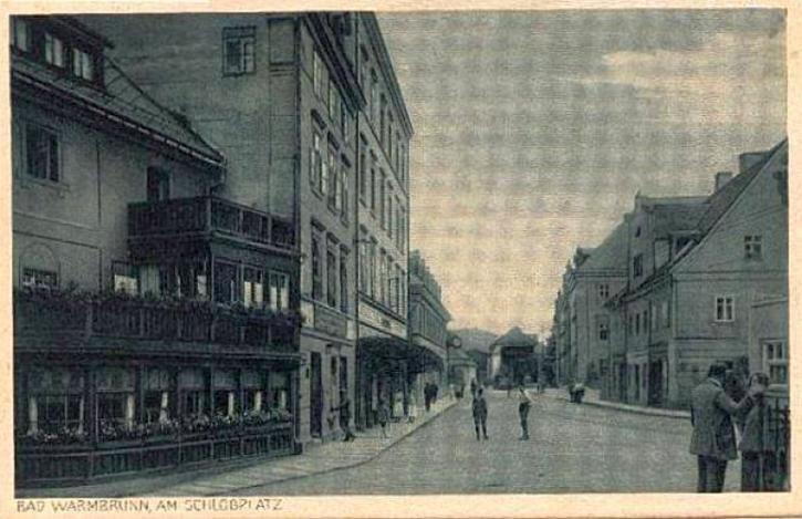 Obrazek z centrum dawnych Cieplic.