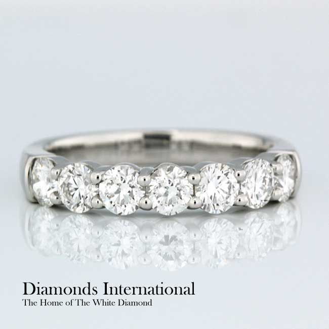Claw Set Wedding Ring 18ct White Gold Claw Set Wedding Ring. Product Reference 0505601 #love #like #life #elegant #marriage #couples #marryme #wedding #jewellery #diamonds #diamondsinternational #engaged #bling