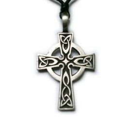 Pewter hanger Keltisch kruis 2 | Celtic Cross (groot) | WEBWINKEL EXOTIEK