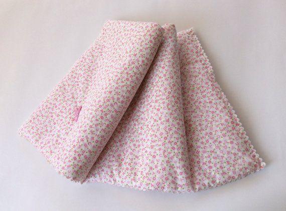 Trapunta imbottita per Neonata in cotone coperta neonato con imbottitura legger e fiocchi / regalo per nascita