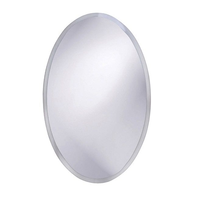 Allan Andrews Frameless Beveled Oval Mirror