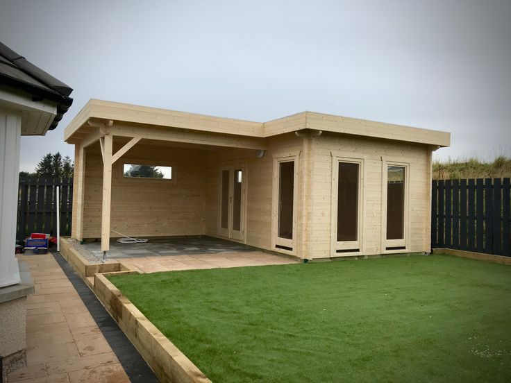 Best This Is A L Shaped Flat Roof 3 5M X 5M Cabin With A 3M 400 x 300