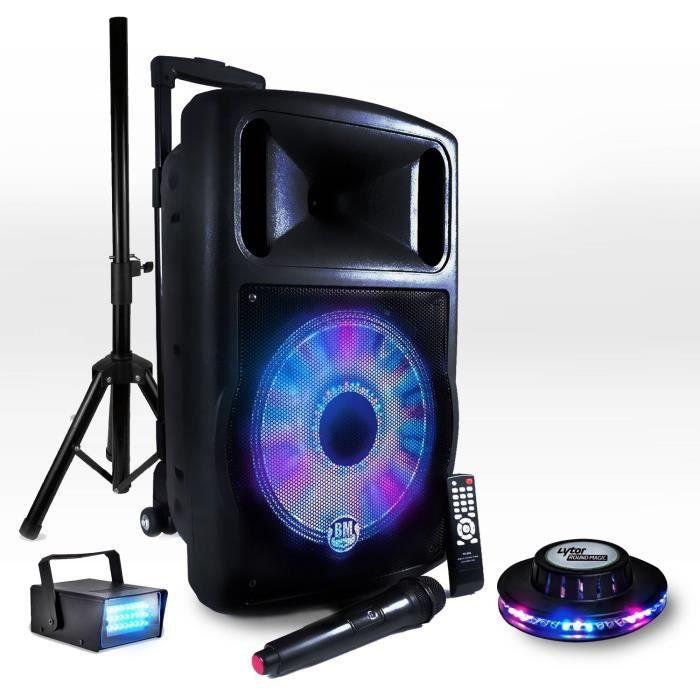 C'est vous le DJ , pour votre animation, repas ,anniversaire , Cocktail,soirée dansante, conférence, fête extérieure....Louez une EnceinteAutonome très facile à utiliser partout et Très PuissanteBranchez votre Ordinateur , tablette , ou autre en Bluetooth et c'est partie3 jeux de lumières : Projecteur LED FLOWER fonctionne au rythme de la musiqueMini Roundmagic LED Effet OVNI + Mini LEDSTROBE LytorEnceinte modèle amplifiée 700 w / amplification 100 wbatterie rechargeable autonome 3 à 5…