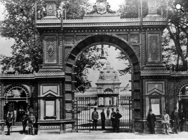 A Milleniumi kiállítás főbejárta 1896. Budapest
