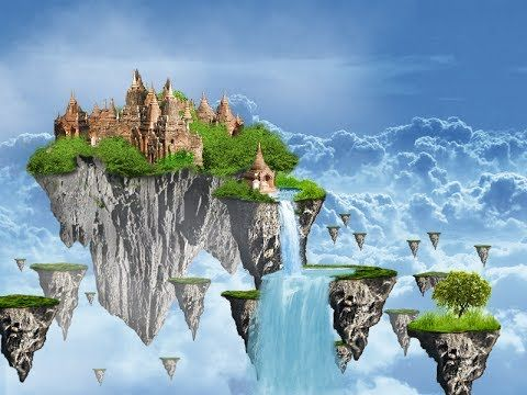 Photoshop Tutorial - Matte painting (Floating islands)