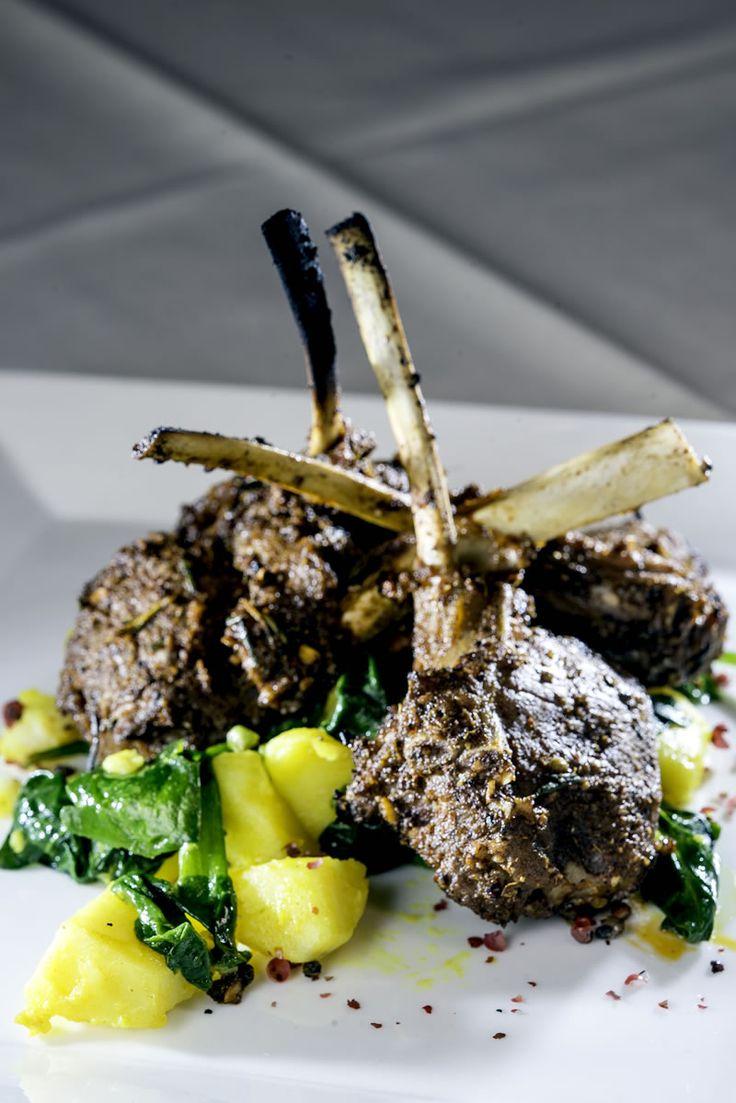 of Lamb Rubbed w/ Roasted Garlic, Tandoori Masala, Methi Sauce, Spiced ...