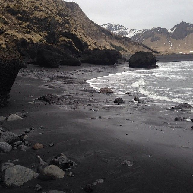 """Black Sand Beaches #iceland #darkness #blackworld #travel"""