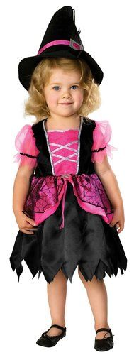 Pretty in Pink Toddler Witch Costume