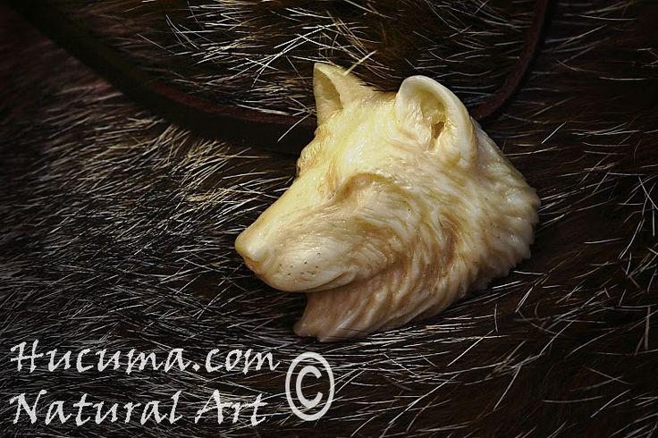 HUCUMA. artesanía en hueso y de diseño.: Collar Lobo