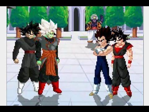 Free Dbz Games - Zamasu Fusion & Black Goku vs Vegeta & Evil Goku