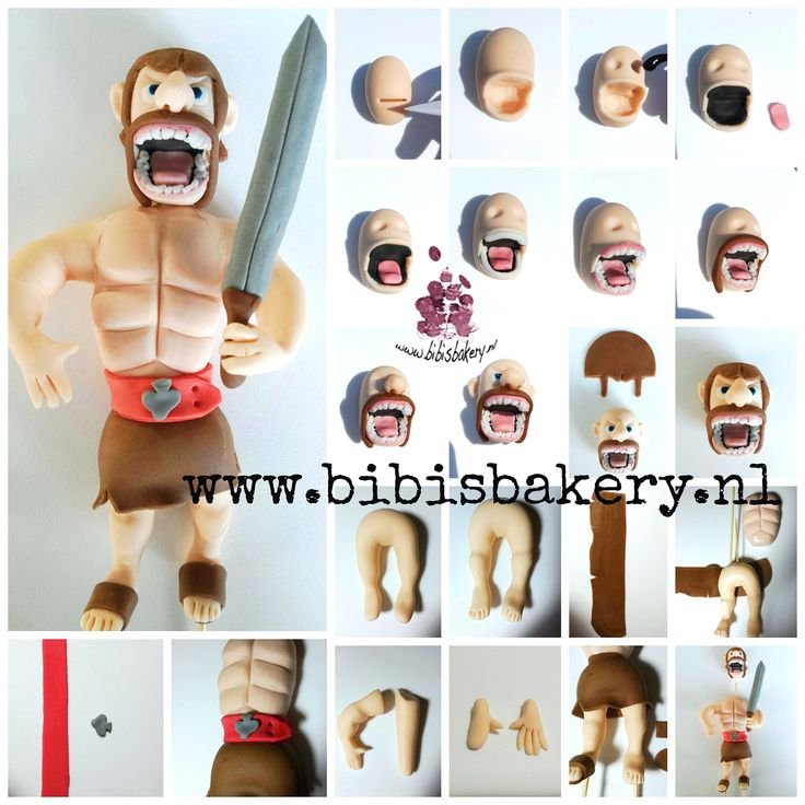 What if a friend just loves to play Clash of Clans? Then you make him into his own Clash of Clans hero, with brown hair in stead of blond hair. Isn't he scary? xxx Sabine  #bibisbakery #clashofclans https://www.facebook.com/bibisbakery.nl