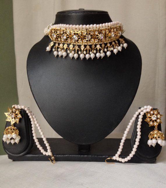 Hyderabadi Indian choker set Wedding Jewelry Indian by MahrukhD