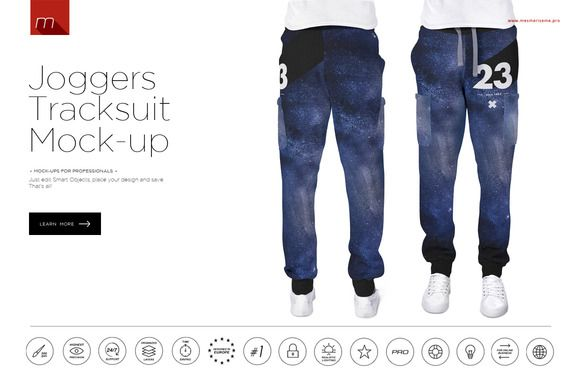 Joggers Tracksuit Mock-up ~ Product Mockups on Creative Market
