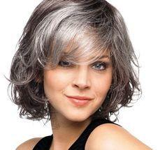 Mixed gray curly