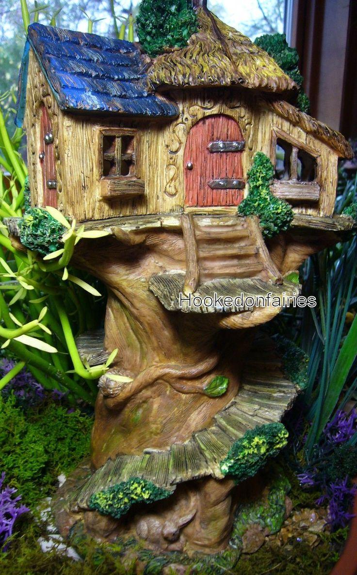 Enchanted fairy tree house here is a little faerie tree house linda - Miniature Fairy Garden Tree House