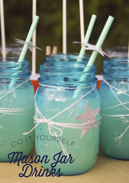 Kate Landers Events, LLC: Star Gazing Party: My Mason Jar Drinks PLUS DIY Tissue Lanterns, Constellation Coasters & More