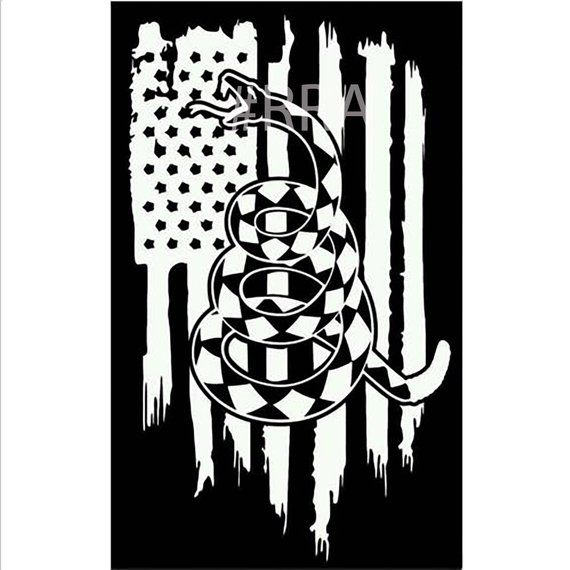 Don T Tread On Me American Flag Vinyl Decal American Flag Decal