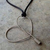 Recycled Guitar Strings - Restored Guitar String Teardrop Earrings from eye on the sparrow designs